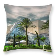 Salvador Dali Museum Throw Pillow by Mal Bray