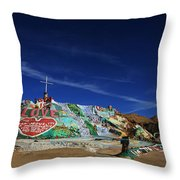 Salvation Mountain Throw Pillow by Laurie Search