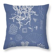 Salwater Algae Throw Pillow by Aged Pixel