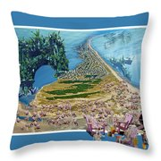 Sam And Topsail's Ghost Pirates  Throw Pillow by Betsy Knapp