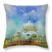 Samadhi Ranjeet Singh Throw Pillow by Catf