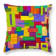 Sampler Throw Pillow by David K Small