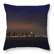 San Diego Night Sky Throw Pillow by Christine Till