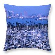 San Diego Twilight Throw Pillow by Sandra Bronstein