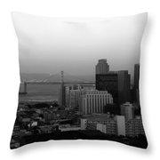 San Francisco Throw Pillow by Aidan Moran