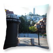 San Francisco Coit Tower At Levis Plaza 5D26213 Throw Pillow by Wingsdomain Art and Photography