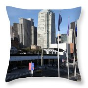 San Francisco Moscone Centerand And Skyline - 5d20504 Throw Pillow by Wingsdomain Art and Photography