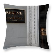 San Francisco Shreve Storefront - 5d20579 Throw Pillow by Wingsdomain Art and Photography