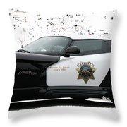 San Luis Obispo County Sheriff Viper Patrol Car Throw Pillow by Tap On Photo