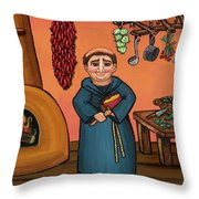 San Pascual And Vigas Throw Pillow by Victoria De Almeida