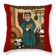 San Pascual Throw Pillow by Victoria De Almeida