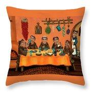 San Pascuals Table Throw Pillow by Victoria De Almeida