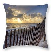 Sand Dunes   Throw Pillow by Debra and Dave Vanderlaan