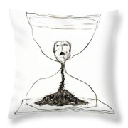 Sand Glass Throw Pillow by Michal Boubin