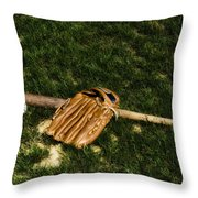 Sand Lot Baseball Throw Pillow by Bill Cannon