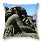 Sand Sculpture 1 Throw Pillow by Bob Christopher