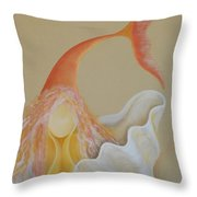 Sand Soul Throw Pillow by Catt Kyriacou