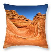 Sandstone Surf Throw Pillow by Adam Jewell