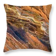 Sandstone Tapestry Throw Pillow by Mike  Dawson