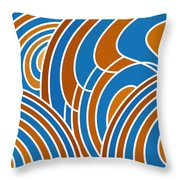 Sanguine And Blue Abstract Throw Pillow by Frank Tschakert