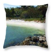 Sanibel Cove Throw Pillow by Anna Villarreal Garbis