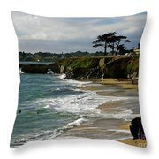 Santa Cruz Beach Throw Pillow by Carol Groenen