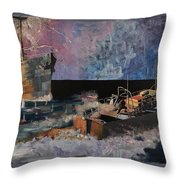 Santa Eliza Martyred Throw Pillow by Ray Agius