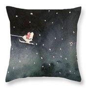 Santa Is Coming Throw Pillow by Yoshiko Mishina