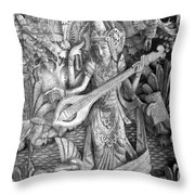Saraswati - Supreme Goddess Throw Pillow by Karon Melillo DeVega
