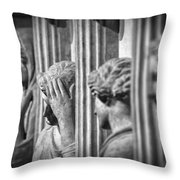 Sarcophagus Of The Crying Women II Throw Pillow by Taylan Apukovska