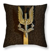 Sas - Special Air Service - Who Dares Wins Throw Pillow by Paul Ward