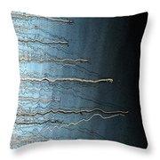 Sausalito Bay California. Stormy. Throw Pillow by Ausra Paulauskaite