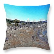 Sausalito Beach Sausalito California 5D22696 Artwork Throw Pillow by Wingsdomain Art and Photography