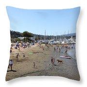 Sausalito Beach Sausalito California 5D22696 Throw Pillow by Wingsdomain Art and Photography
