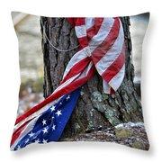 Save The Flag Throw Pillow by Susan Leggett
