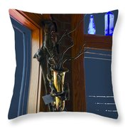 Sax At The Full Moon Cafe Throw Pillow by Greg Reed