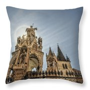 Scaligeri Family Tombs Throw Pillow by Maria Coulson
