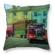 Scammell Showtrac Throw Pillow by Mike  Jeffries