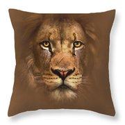 Scarface Lion Throw Pillow by Robert Foster