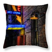 Scat Lounge Living Color Throw Pillow by Joan Carroll