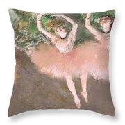Scene De Ballet Throw Pillow by Edgar Degas
