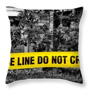 Scene Of The Crime Throw Pillow by Olivier Le Queinec