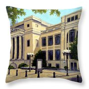 Schermerhorn Symphony Center Throw Pillow by Janet King