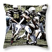 School Boy Right Throw Pillow by Bob Hislop