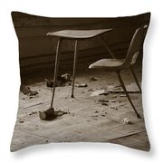 School's Out Throw Pillow by Luke Moore