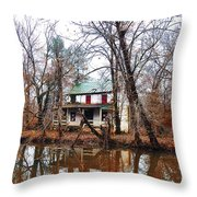 Schuylkill Canal Port Providence Throw Pillow by Bill Cannon