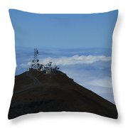 Science City Haleakala Throw Pillow by Sharon Mau