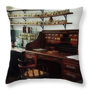 Scientist - Office In Chemistry Lab Throw Pillow by Susan Savad