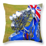 Scooter Dressed For Going Out Throw Pillow by Steve Kearns