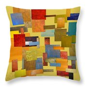 Scrambled Eggs Lll Throw Pillow by Michelle Calkins